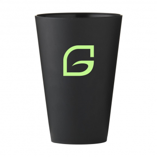 Cup made of wheat straw fibres and PP plastic. Durable, environmentally-friendly and biodegradable. Capacity 430 ml.