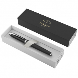 The Parker IM is an ideal partner with unlimited potential. The sleek tapered shape pairs seamlessly with innovative designs to make a striking statement. The finish trims compliment the body, making this Parker pen the perfect writing instrument for students and professionals. The incredibly smooth rollerball tip provides fluid, skip-free writing that ensures you leave striking marks everywhere you write. For use with QUINK rollerball ink refills. Delivered with one cartridge and a Parker gift box. Exclusive design.