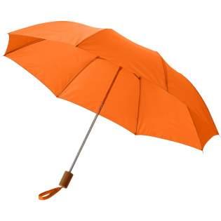 20'' paraplu met kunststof handvat en metaal frame. Geleverd met een hoes.