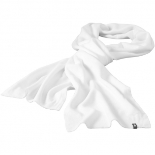 Double layered scarf. Tubular knit. Branded loop label.