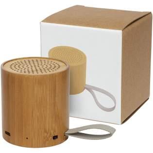 Haut-parleur Bluetooth® en bambou avec puissance de sortie de 3W et excellente qualité sonore. La batterie intégrée de 500mAh permet jusqu'à 3heures d'utilisation au volume maximum sur une seule charge. La portée du Bluetooth® 5.0 est de 10mètres. Câble de charge Micro USB inclus. Fourni dans une boîte cadeau et livré avec un manuel (fait à partir de matière durable). Le bambou étant un produit naturel,la couleur et la taille peuvent légèrement varier selon l'article, ce qui peut avoir un impact sur l'aspect final du produit.