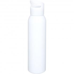 Enkelwandige aluminium drinkfles met schroefdop. De dop heeft een hengsel zodat je hem gemakkelijk mee kunt nemen. BPA-vrij. Volumecapaciteit is 650 ml.
