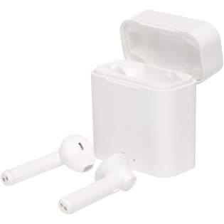 Écouteurs ergonomiques UVC True Wireless à appairage automatique qui assurent plus de 3heures d'écoute. Le boîtier de charge offre une caractéristique unique: il suffit d'y placer les écouteurs, et un cycle de nettoyage UV les assainit automatiquement grâce aux lumières UVC placées dans le boîtier. Version Bluetooth® 5.0 avec portée jusqu'à 10mètres. Livrés avec boîte cadeau Avenue et câble de charge MicroUSB.