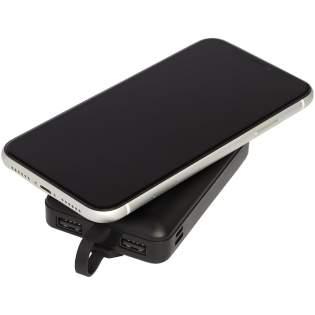 Drahtlose Powerbank mit einem 3-in-1-Universalkabel und einer 10,000 mAh Lithium Polymer Batterie der Klasse A, einem drahtlosen Ladesender und einem integrierten 3-in-1-Kabel. Geräte können durch drahtloses Laden oder mit dem integrierten 3-in-1-Kabel aufgeladen werden. Das 3-in-1-Kabel ist sowohl mit Apple® iOS- als auch mit Android-Geräten kompatibel. Wird in einer Avenue-Geschenkschachtel geliefert.