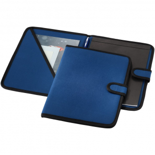 Portfolio with hook & loop closure, pen loop, document pocket and 20 pages lined notepad. Pen and accessoires not included.