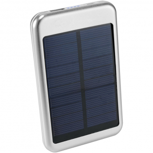 Bask 4000 mAh solar power bank. The Bask Solar Power Bank is ideal for any camping trip or day at the beach. It includes a 4,000 mAh Lithium Polymer battery with 5V/1A output. The power bank can be charged by the sun or the included USB to Micro USB connecting cable that can also be used to charge devices with a Micro USB input. ABS Plastic.
