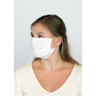 Masque une couche avec pince-nez. Lavable à 60 degrés. Fabriqué à partir de 100% de coton organique doux et confortable. La certification GOTS garantit la certification de l'ensemble de la chaîne d'approvisionnement. Cet article n'est pas un produit médical au sens de la réglementation EU/2017/745 (masques chirirgicaux) ni un Equipement de Protection Individuelle au sens de la réglementation EU/2016/425 (tels que les masques type FFP2 ou FFP3). Ce produit ne convient pas pour un usage médical et ne protège pas contre les infections.