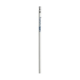 Crayon de bois (HB) non taillé avec gomme. Avec vernis brillant.