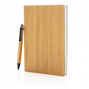 This beautiful bamboo notebook is made out of sustainable bamboo with 90 sheets/180 pages of 70 gsm recycled paper. The set includes a bamboo ballpen in a kraft gift box.