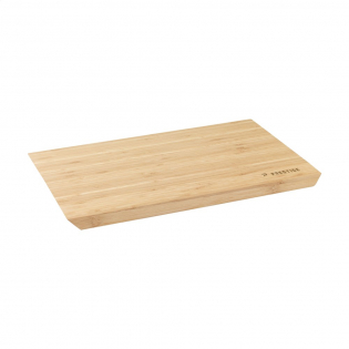 Durable cutting board made of high-quality bamboo. Can also be used as a serving platter. Large size and beautifully designed with sloping sides. Barely absorbs moisture, allowing this product to maintain its optimal quality. Each piece in a box.