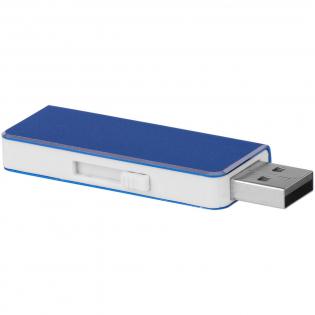 Clé USB compacte avec bouton latéral pour sortir ou rentrer la tête USB. Version 2.0. Vitesse d'écriture supérieure à 1,94 Mo/sec et vitesse de lecture supérieure à 4,88 Mo/sec.
