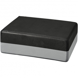 Two-tone lightweight, versatile yoga block that is ideal for added stability and stretch to yoga poses. Has rounded edges and corners for additional comfort and an easier hand grip. Available in a matching range of colours to match or contrast with your yoga mat. Large decoration area on the block. Size: 23 x 15 x 7.6 cm.