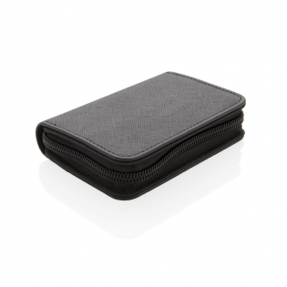 This Swiss Peak elegant and spacious wallet can hold up to 10 cards and keeps you safe due to the RFID protection.