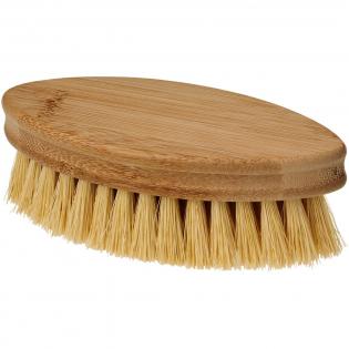 Brosse en bambou avec poils en 100 % fibres végétales. Entièrement vegan. Convient aux cuisines et salles de bains. Le bambou aide à absorber le CO2 de l'atmosphère, pousse plus vite et produit plus d'oxygène que les arbres.