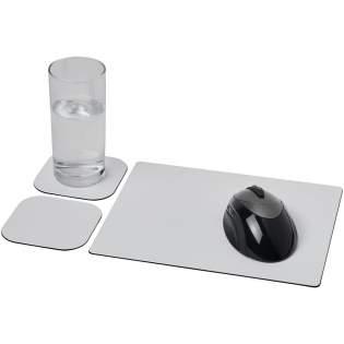 Geliefert mit einem Brite-Mat® Mousepad und einem Set passender Untersetzer. Das Set besteht aus einem rechteckigen Mousepad (0,3 x 19 x 24 cm) und zwei quadratischen Untersetzern (0,3 x 9,5 x 9,5 cm).