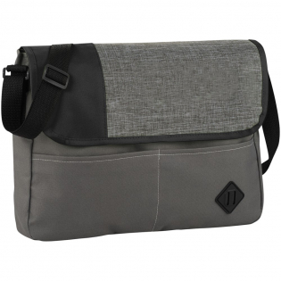 The large main compartment in this messenger bag provides lots of space. The interior mesh pocket is great for carrying documents and closes conveniently with a front flap hook and loop closure. Open front pockets for carrying items you need quick access to. Adjustable shoulder strap for better fit.