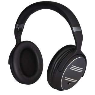 Faltbarer kabelloser Kopfhörer mit Active-Noice-Cancelling-Funktion (ANC). Mit einer Rauschunterdrückung von bis zu 20 dB und dem 40-mm-Lautsprecher bietet dieser Kopfhörer ein intensives Musikerlebnis, auch wenn Sie von Lärm umgeben sind. Ergonomisches Design mit einer weichen Hörmuschel für hohen Tragekomfort. Elegante Aluminiumplatte an der Hörmuschel mit eloxierter Oberfläche, die für eine Lasergravur geeignet ist. Über acht Stunden Wiedergabezeit bei maximaler Lautstärke mit eingeschaltetem ANC und 16 Stunden Wiedergabezeit bei maximaler Lautstärke mit ausgeschaltetem ANC. CSR Bluetooth® v4.2-Chipsatz für eine stabile Verbindung bis zu 10 Metern.  Inklusive AUX-Kabel und Ladekabel. Lieferumfang mit PU-Tasche zum Schutz und zum einfachen Transport, und Verpackung in einer hochwertigen Geschenkbox.