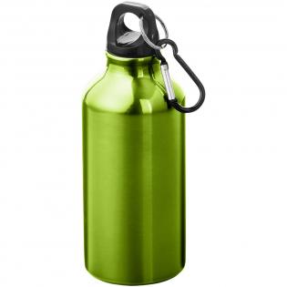 Enkelwandige fles met schroefdop. De karabijnhaak is niet bedoeld als klimgereedschap. Inhoud 400 ml. Screenround bedrukking meerdere kleuren : Geen sluitwerk. De minimale afstand tussen elementen dient 1 mm te zijn.