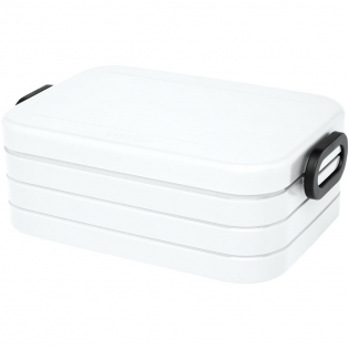 Lunch box featuring a tight-sealing ring to keep the contents fresh and tasty. Suitable for 4 sandwiches. Divider included. The capacity is 900 ml. Dishwasher safe. BPA free.
