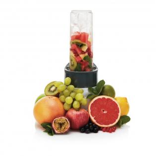 Blijf gezond en mix een overheerlijke smoothie met deze one touch blender. Neem alle dagelijkse vitamine vervolgens direct mee in de handige 550ml Tritan fles. BPA-vrij.  De 300-watt blender verplettert gemakkelijk ijs, bevroren fruit en groenten. Inclusief handleiding met gezonde smoothie recepten.