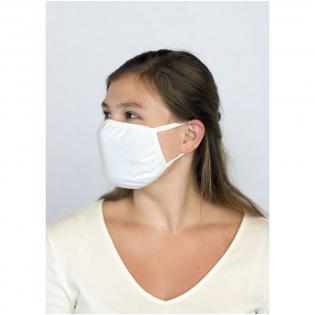 Dubbellaags mondmasker. Wasbaar op 60 graden. Het gebruik van dit masker is uitsluitend voorbehouden voor niet-hygiënische doeleinden Dit item is geen medisch hulpmiddel in de zin van de verordening EU/2017/745 (chirurgische maskers) en ook geen persoonlijke beschermingsmiddelen in de zin van de verordening EU/2016/425 (zoals filtermaskers van het type FFP2 of FFP3). Dit product is niet geschikt voor medisch gebruik en biedt geen bescherming tegen infecties.