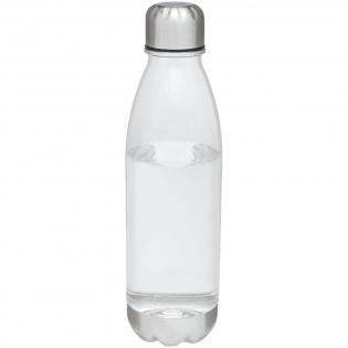 Enkelwandige drinkfles van duurzaam Tritanmateriaal met schroefdop. Bestand tegen stukvallen, vlekken en geurtjes. Voorzien van een dop en onderkant van roestvrijstaal. BPA-vrij. Volumecapaciteit is 685 ml.