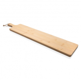Add a sophisticated touch to any occasion when you serve tapas, antipasti and more on this attractive Ukiyo bamboo serving tray. A definite eyecatcher at any party! Packed in a luxury gift box. The board is untreated and can be treated with oil if desired. Never put it into the dishwasher, handwash only.