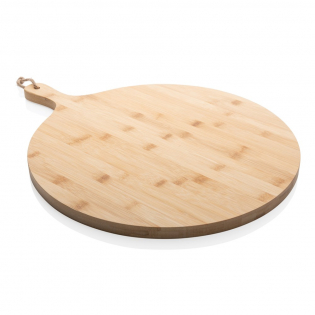 No matter what meal you're preparing, all your food will look great on this Ukiyo bamboo round serving board (dia 40cm). Enjoy your freshly prepared food and serve it in style to your friends and family. Packed in luxury kraft box. The board is untreated and can be treated with oil if desired. Never put it into the dishwasher, handwash only.