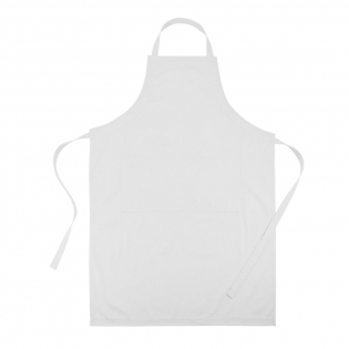 High quality easily adjustable apron with two front pockets, made of 35% cotton and 65% polyester.