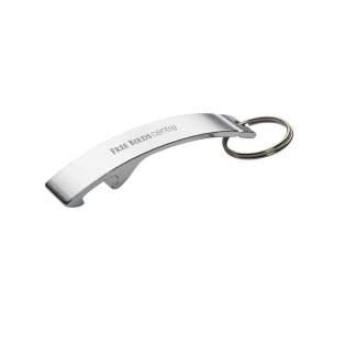 Porte-clés décapsuleur en aluminium.