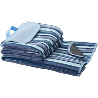 Picknickdecke mit wasserfester Rückseite mit einfachem Tragegriff. Deckengröße beträgt 145 x 130 cm.
