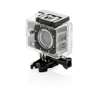 Full HD action camera (1280*720P) with wide angle and 120 degree function for perfect movies and pictures of your outdoor activities. Includes a 650 mAh battery for usage up to an hour on a single charge. Includes super strong ABS selfie stick to make even better movies and photos. Packed in handy Swiss Peak travel pouch to take your camera wherever you go. Including 11 accessories.