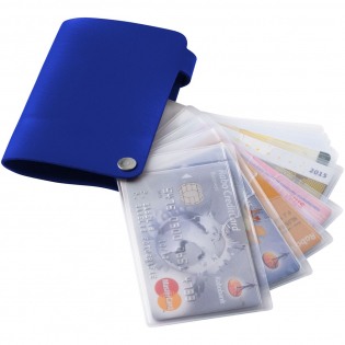 Porte-cartes sous forme livret à 10 emplacements pour conserver vos cartes de crédit, avec fermeture à pression.