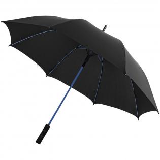"""Automatische 23"""" stormparaplu met gekleurde glasvezel schacht en glasvezel baleinen. Kleur matching stiksels op de paraplu sluit band. Winddicht systeem. Geleverd met een hoes. Exclusief ontwerp."""
