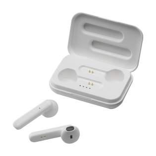 Set mit kabellosen Ohrhörer in einer wiederaufladbaren Aufbewahrungshülle. Die 2 Kopfhörer nutzen Bluetooth (Version 5.0) für eine störungsfreie Verbindung und verfügen über eine 35 mAh Batterie, die bis zu 3 Stunden Spielzeit ermöglicht und im Ladecase in ca. 1 Stunden wieder aufgeladen werden kann. Ohne Bewegungseinschränkung Musik hören und Freisprechanrufe annehmen. Mit hervorragender Klangwiedergabe und regulierbarer Lautstärke. Eingang 5V/1A. Kabelloser Ausgang: 5V/1A. Reichweite bis zu 10 Meter. Inklusive Micro-USB-Ladekabel und Bedienungsanleitung. Pro Stück in einer Verpackung.