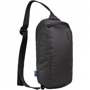 """Sleek, bluesign® approved crossbody sling bag with a 7"""" tablet compartment. Made from recycled materials."""
