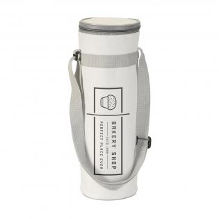 600D polyester koeltas voor flessen tot 1,5 liter. Met verstelbare draagriem.