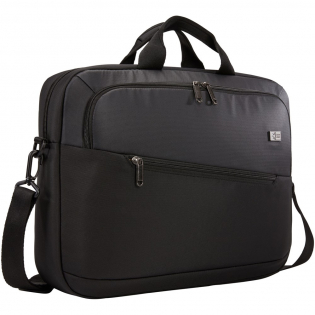 """A sleek laptop briefcase with storage and protection for the workday or business travel. Padded storage for a laptop up to 15.6"""". Slip pocket for a tablet up to 12"""". Organization panel with storage for a  notebook, small accessories and keys. Front pocket that provides quick access to small items. Dedicated file pocket. Luggage pass through panel for travel."""