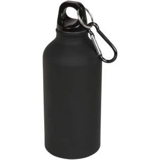 Enkelwandige fles met schroefdop. Met een trendy matte look. Sleutelhanger inclusief karabijnhaak. Karabijnhaak is niet geschikt als klimgereedschap. Volume 400ml.
