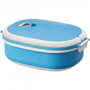 Cette boîte repas à couvercle à charnière dispose de 2 poignées pour un transport facile. Compatible micro-onde.