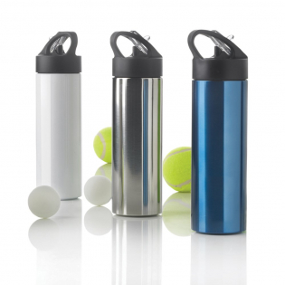 Sport is the sustainable drinking bottle with capacity of 500ml. Instead of using a plastic bottle, use and re-use this stainless steel sports bottle with practical straw to quench your thirst. Registered design®