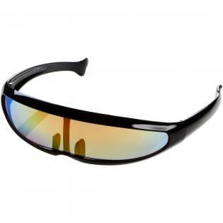 Trendy zonnebril met grote, categorie 3 glazen met gekleurde spiegelafwerking. Voldoet aan EN ISO 12312-1 en UV-400.