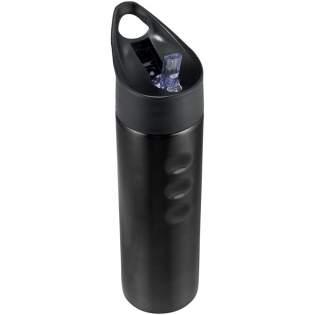 Enkelwandige sportfles met schroefdop en lekvrij. Dop met flip-top drinktuit. Zij vingergrepen voor het gemakkelijk vasthouden van de fles. Inhoud 750 ml.