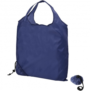 Polyester shopping bag with a matching pouch for easy storage.