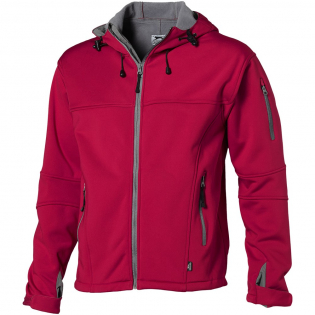 3000 mm Waterproof and 3000 g/m² Breathable. Three layer bonded: Jersey, TPU, fleece. Dropped back hem. Elastic drawstring with adjustable cord lock. Adjustable cuffs with hook and loop closure. Hand pockets with zippers. Sleeve pocket with zipper. Centre front contrast reversed coil zipper. Heat transfer main label for tagless comfort.