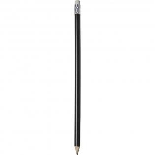 Holz Bleistift mit farbigem Schaft und einem Radiergummie. Nicht angespitzt.