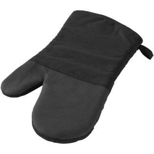 Ovenwant met siliconen oppervlak en ruitpatroon aan de andere kant. De opening van de handschoen is 14 cm groot.