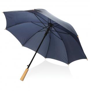 Parapluie 23'' en tissu RPET pongé 190T avec système d'ouverture automatique. Avec mât en métal et baleines en fibres de verre. Design classique et intemporel, pour voyager avec style.