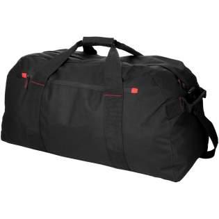 Extragroße Reisetasche im klassischen Design mit Hauptfach mit Reißverschluss und Reißverschlusstasche vorne.