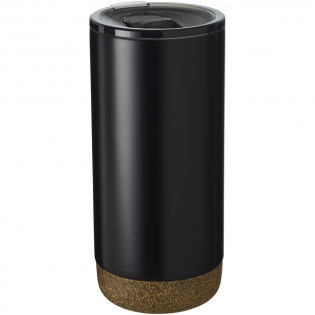 Tumbler featuring an on trend and skid-proof cork design base. Double-walled stainless steel vacuum construction, with copper insulation, this tumbler will keep your beverage cold for 24 hours and hot for at least 8 hours. The construction also prevents condensation developing on the outside. Volume capacity is 500 ml. Presented in an Avenue gift box.